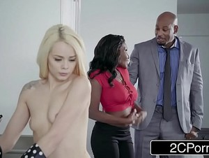 Ebony Couple Seduces Cute Little Teen - Elsa Jean, Osa Lovely