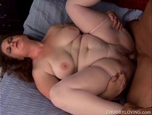 Beautiful big boobs and belly BBW is a super hot fuck