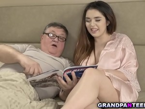 Eddie is a horny old man who loves younger girls.Diana Rius is his new victim and enjoys fuck