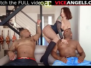Slutty Ivy Lebelle taking black cocks in DP bang (Prince Yahshua , Rico Strong , Iv